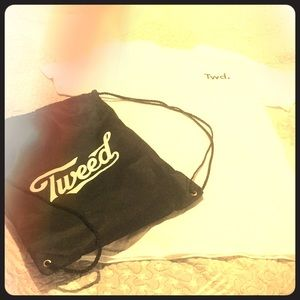 Tweed shirt and bag. New without tags